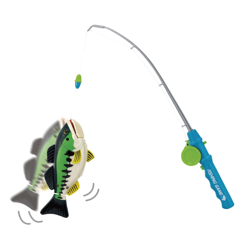 MARUKA - 超真實體驗-釣魚遊戲-綠色-綠魚1支,釣竿1支