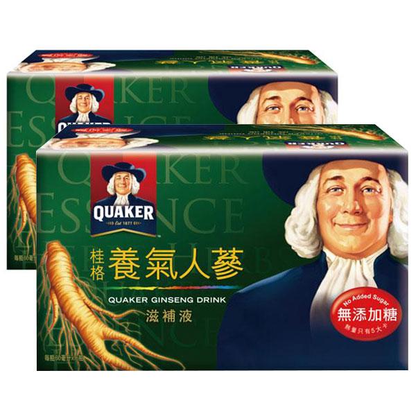 quaker桂格,以130年的科技經驗,針對國人健康需求,精選西洋蔘、白蔘等珍貴素材,將人蔘皂苷濃縮在桂格養氣人蔘無添加糖配方中,可迅速補充元氣,旺盛精神。