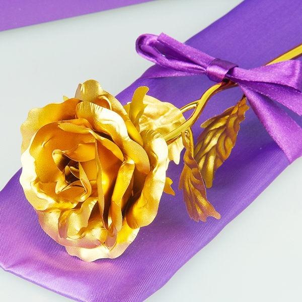 24K金箔玫瑰花 裸花 不含禮及底座 情人節禮物 母親節 求婚 告白 七夕 婚禮