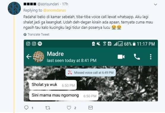 Ibu baru pertama pake Whatsapp, walaupun sebelahan pengennya chat Whatsapp teros. Gapapa, Bu. Kami sebagai anak berusaha ngerti, kok.