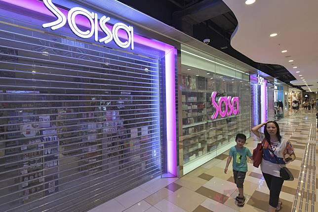 莎莎89分店賣日本口罩。資料圖片