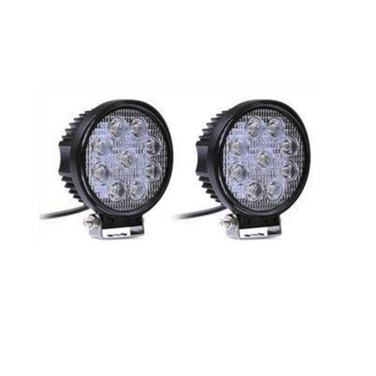 高品質LED工作燈 保固一年 12V~24V 27W LED工作燈 保證亮(白光聚光)12V 24V LED燈 霧燈 日行燈 探照燈 怪手 貨車露營燈 手提燈非48W