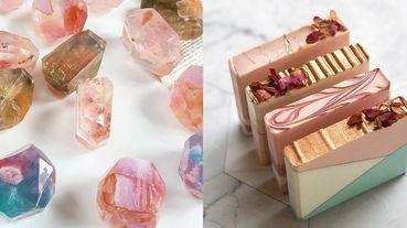 美到捨不得拿來洗!IG火紅3間手工肥皂宛如藝術品,「晶瑩剔透寶石、可口甜點、名畫復刻」實在太夢幻啦~