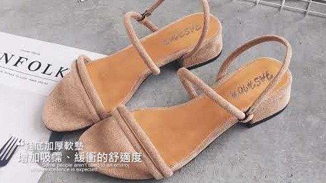 【Miaki流行女鞋】涼鞋.韓風性感繞帶低跟涼鞋