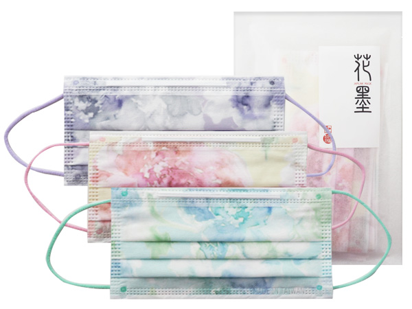 JAPLINK~花墨 成人不織布拋棄式平面口罩(5入) 款式可選【D791933】