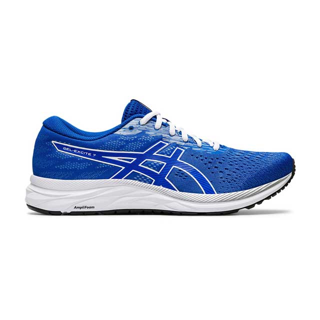 GEL-EXCITE 7採用輕量化設計,改善前足的線條,讓長距離跑步仍可保持舒適。工程網布鞋面透氣度佳,讓雙腳能保持乾爽。採用ORTHOLITE鞋墊,提供絕佳舒適慶。鞋底搭載 AMPLIFOAM與內置