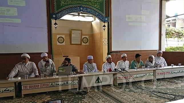 Konferensi Pers Front Pembela Islam (FPI) di kantornya, Petamburan, Jakarta Barat, pada Senin, 11 November 2019. TEMPO/Andita Rahma