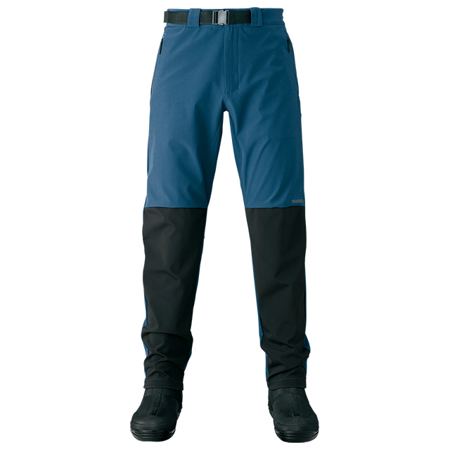 ▼膝部、臀部耐磨耗素材▼膝部、臀部採用DURAST高彈性耐磨耗素材。適合秋冬春3季穿著的防風彈性釣魚褲。