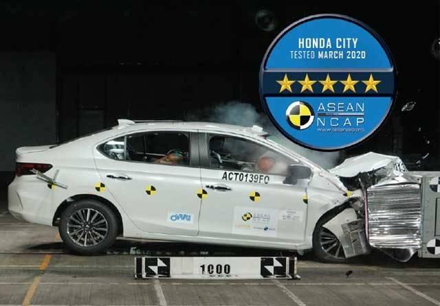 Ditengah Pandemik Covid-19, Honda City Raih 5 Bintang dalam Uji Tabrak