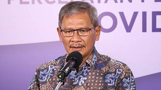 The government's spokesman for the handling of COVID-19, Achmad Yurianto. KOMBEN BNPB/Ignatius Toto Satrio