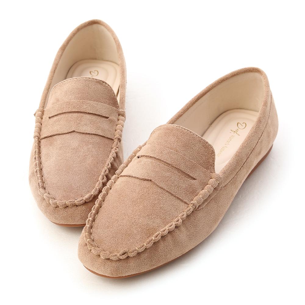 今年一定要擁有的百搭定番款 鞋面特別選用柔軟舒適的麂絨材質 8種色系讓人每一色都好想擁有 精緻的手工縫線讓整體質感大加分 超軟Q的澎澎鞋墊貼心呵護你的雙腳 橡膠防滑豆豆鞋底走起來更有安全感 通勤上班、