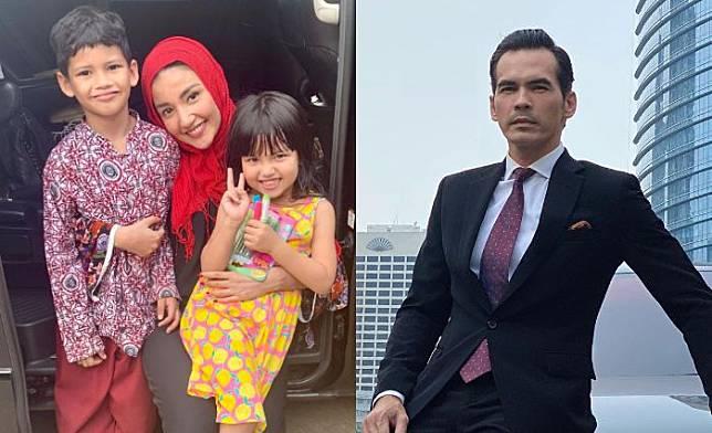 Kebersamaan Tsania Marwa dan kedua anak hasil pernikahannya dengan Atalarik Syach