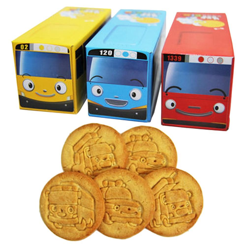 韓國知名兒童動畫-小巴士 健康牛奶口味餅乾 巴士造型外盒 兩種隨機出貨 規格:140g 產地:韓國 保存期限:12個月 成份:小麥粉,糖,酥油{植物油[棕櫚油脂,硬質棕櫚油,棕櫚油(氫化油),椰子油]