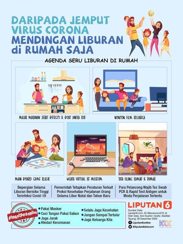 Infografis Daripada Jemput Virus Corona, Mendingan Liburan di Rumah Saja. (SIAPGRAK.COM/Abdillah)