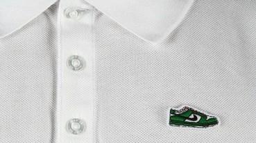 Nike SB 推出復古 POLO 衫,仔細看不是鱷魚是這一雙鞋...