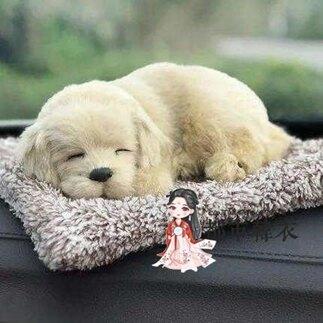 汽車擺件仿真小狗狗車載動物竹炭包車內除味毛絨玩偶擺設汽車用品