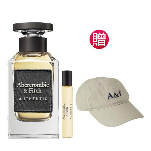Abercrombie&Fitch 真我男性淡香水100ml(贈)A&F品牌棒球帽+同款隨身瓶15ml★Vivo薇朵