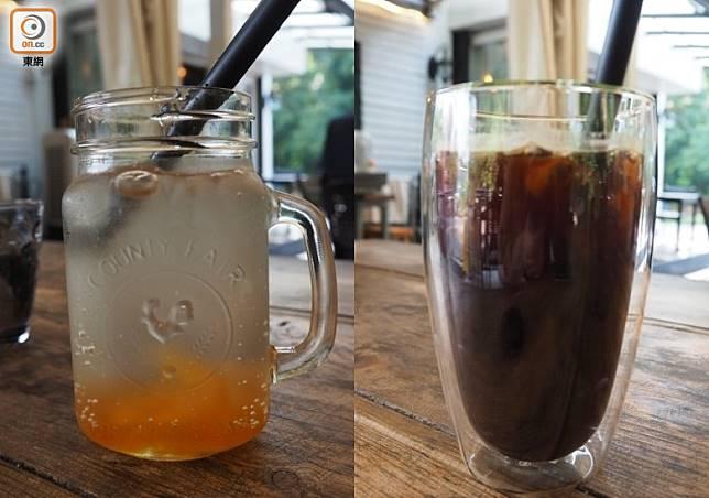 來飲一杯休息一下也是不錯的選擇,有一些常規的咖啡和簡單的特飲(如梳打)。(馮子伊攝)