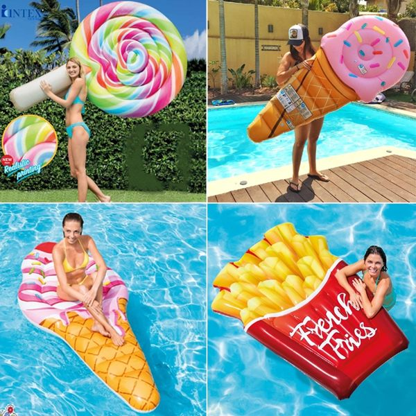 充氣棒棒糖浮床雪糕冰淇淋冰棒充氣冰棍浮排浮板游泳圈 歐亞時尚