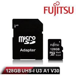 ◎★讀寫速度快 支援 4K 高清錄影|◎★採頂級TOSHIBA快閃記憶體|◎★相容性強 適用手機、相機、空拍機等設備商品名稱:FujitsuMicroSDXCUHS-IU3A1V30128GB記憶卡品