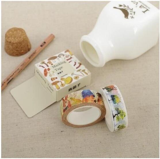 [24H 現貨] 和紙 膠帶 卡通 日記 貼紙 手帳裝飾 動物 植物 人物 貓咪 食物 書本 羽毛 蝴蝶