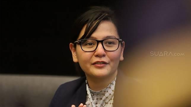 Sekjen PSSI, Ratu Tisha Destria. [Suara.com/Angga Budhiyanto]