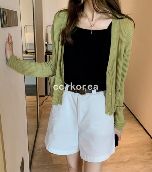 透氣冰絲防曬針織外套 CC KOREA ~ Q23812