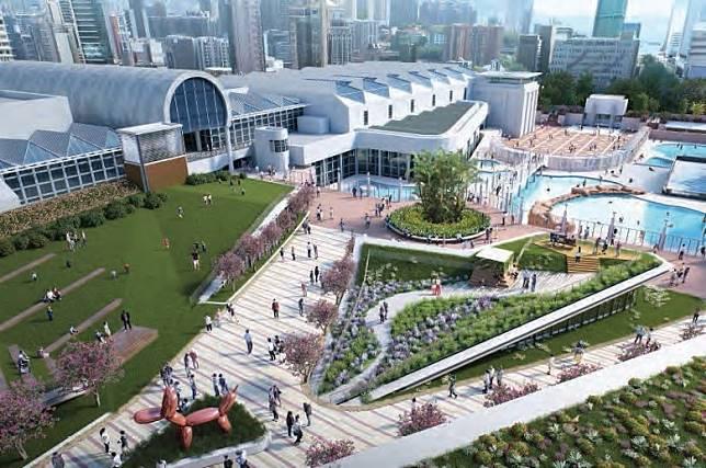 城市地下空間發展研究,優先發展九龍公園概念方案。(諮詢文件)