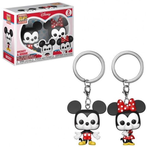 【 Funko 】 POP!鑰匙圈 迪士尼 米奇&米妮 2入組╭★ JOYBUS玩具百貨