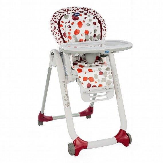 義大利原裝進口 Chicco Polly Progress五合一多功能成長高腳餐椅(四輪版)-櫻桃酒紅【公司貨】 【紫貝殼】。人氣店家紫貝殼的【寶寶離乳用品區】、餐椅/幫寶椅有最棒的商品。快到日本NO