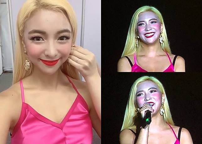 Luna昨晚在曼谷的韓流騷演出。