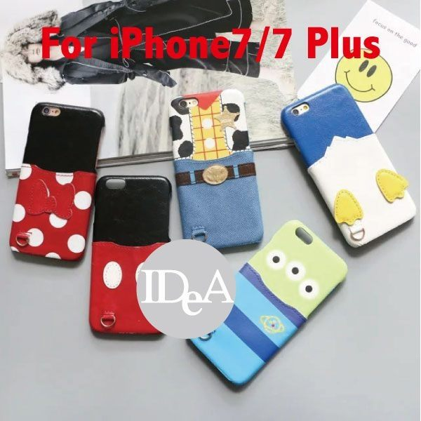 迪士尼 Apple 蘋果 iPhone7/7Plus 皮革壓紋背蓋手機殼 硬殼 保護殼 皮套 米奇 三眼怪 胡迪