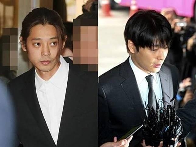 鄭俊英(左)與崔鍾勛涉集體迷姦案於今日開審。