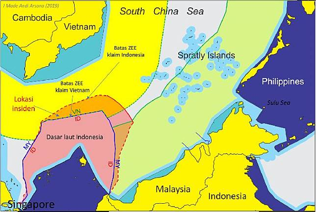 Overlapping claims in South China Sea