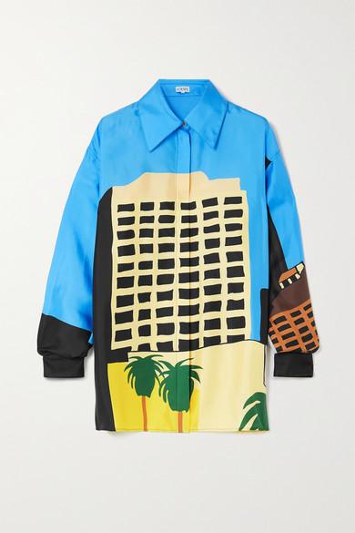 Loewe x Ken Price 合作系列 - 彩色丝缎 - 正面配有单排纽扣,部分隐形 - 100% 真丝 - 干洗 - 珍珠母产地:印度尼西亚 - 当 Loewe 决定从 Ken Price 的