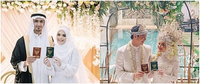 5 Beda gaya Dinda Hauw & Vebby Palwinta dari lamaran hingga nikah