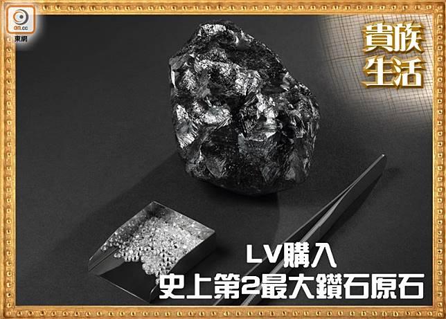 Louis Vuitton The SEWELÔ鑽石原石,重1,758卡,是史上發現第2大的鑽石原石。(互聯網)