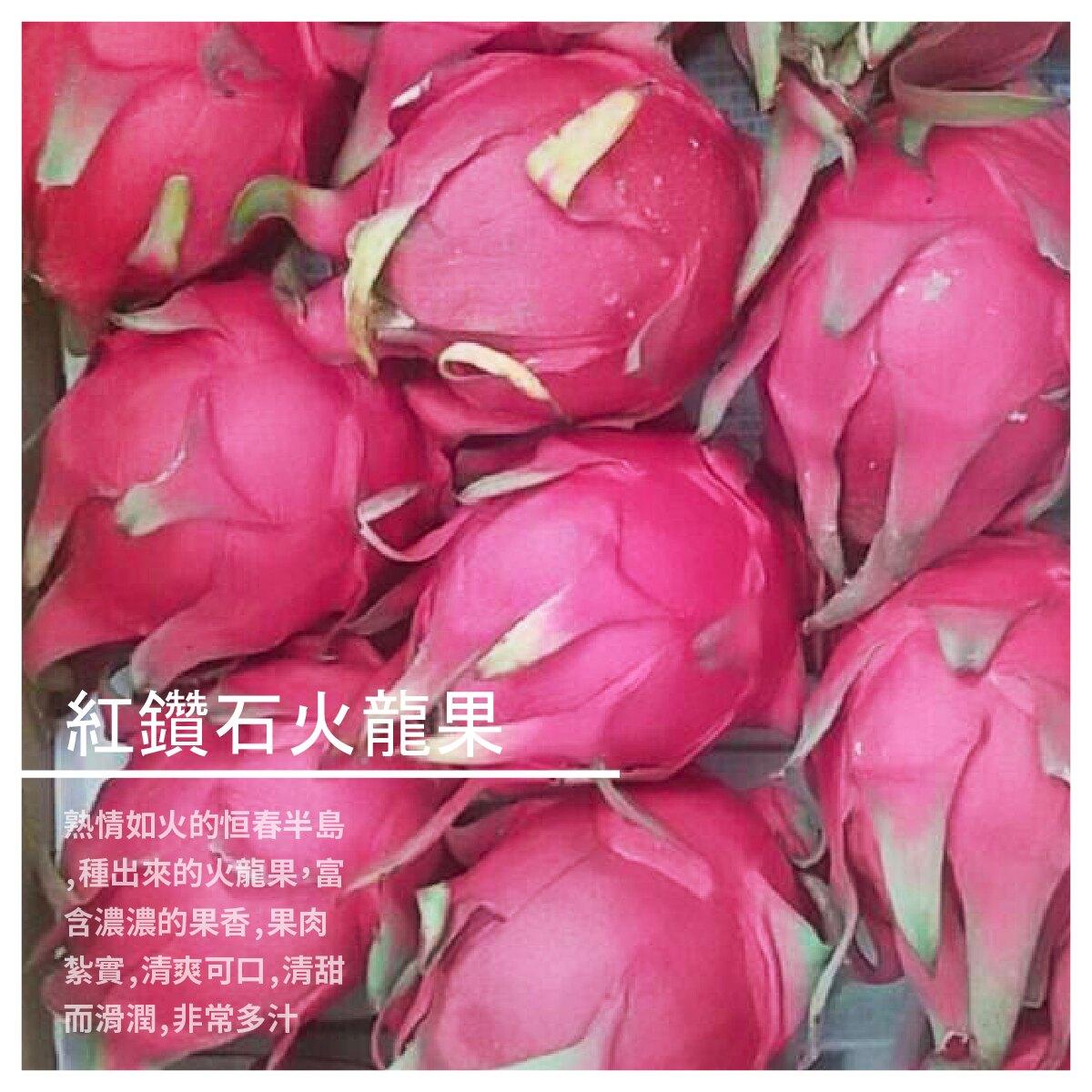 【峰億農產行】紅鑽石火龍果 8粒裝