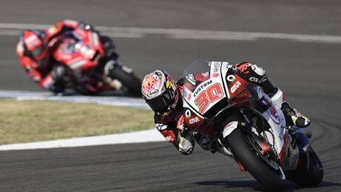 Takaaki Nakagami jadi yang tercepat di FP3 MotoGP Spanyol 2021. (AFP/JAVIER SORIANO)