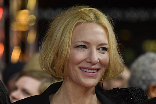 Australian actress, producer and co-creator Cate Blanchett poses on the red carpet upon arrival for the screening of the series 'Stateless' screened in the Berlinale Series section on February 26, 2020 at the 70th Berlinale film festival in Berlin.