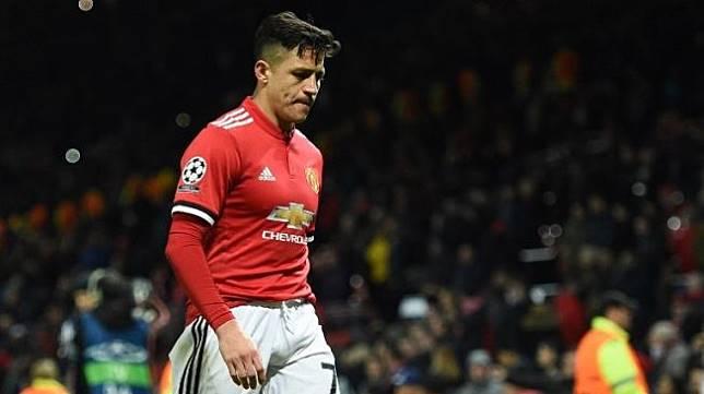 Penyerang Manchester United, Alexis Sanchez (AFP/OLI SCARFF)