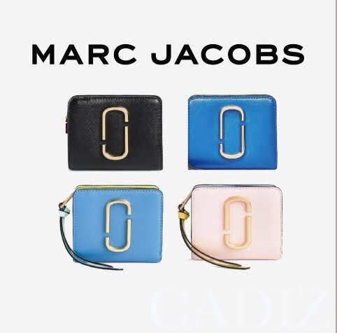 預購 美國正品Marc jacobs Snapshot Mini Compact Wallet 黑籃粉拉鍊短夾M0013360