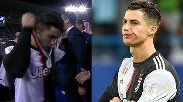 還是討厭當第二!C 羅義大利超級盃奪冠失利,頒獎儀式「怒摘銀牌」宣洩讓嘉賓當場傻眼!