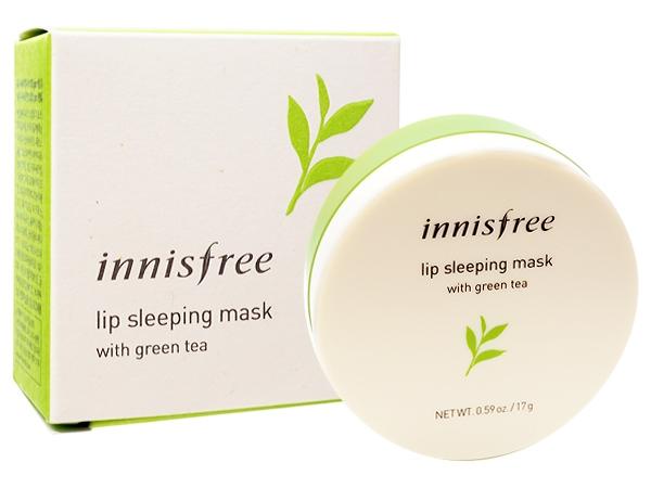 韓國 Innisfree~綠茶高保濕晚安唇膜(17g)【D274485】