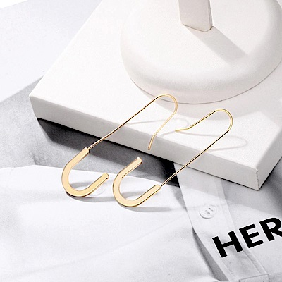 Hera 赫拉 韓款925銀韓劇她的私生活U型耳針/耳環