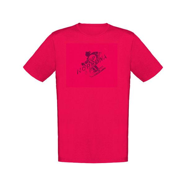 Norrona 老人頭/29 cotton heritage 有機棉短袖T-Shirt 男 花旦紅