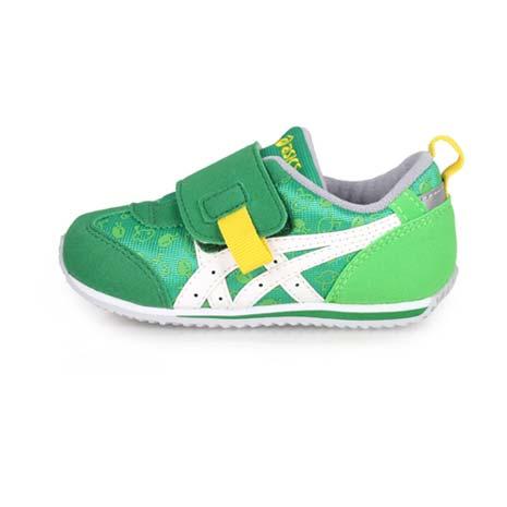 【ASICS】IDAHO SPORTS PACK BABY 男女小童休閒運動鞋 綠白黃15