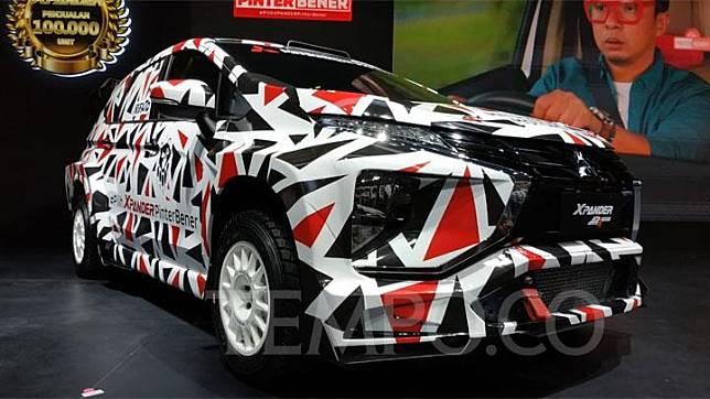 Mitsubishi Xpander AP4 Rally Concept diperkenalkan di IIMS 2019. Tempo/Wawan Priyanto.