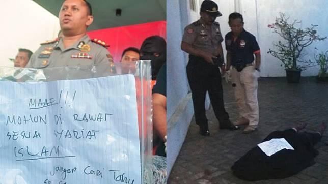 Pembunuh wanita bercadar  (TribunJatim.com/ Mohammad Romadoni)