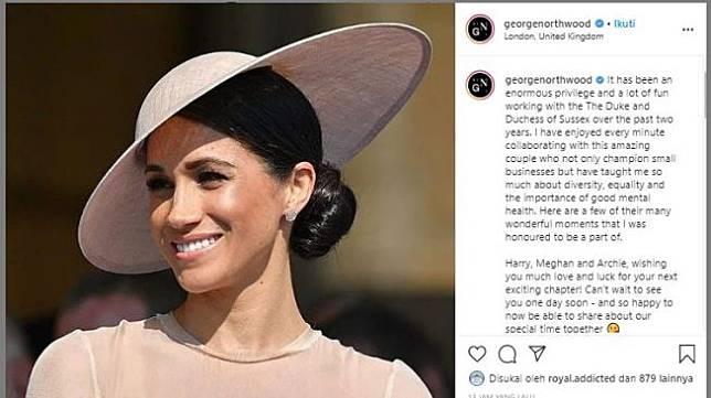 Salam perpisahan penata rambut Meghan Markle,George Northwood. (Instagram/@georgenorthwood)